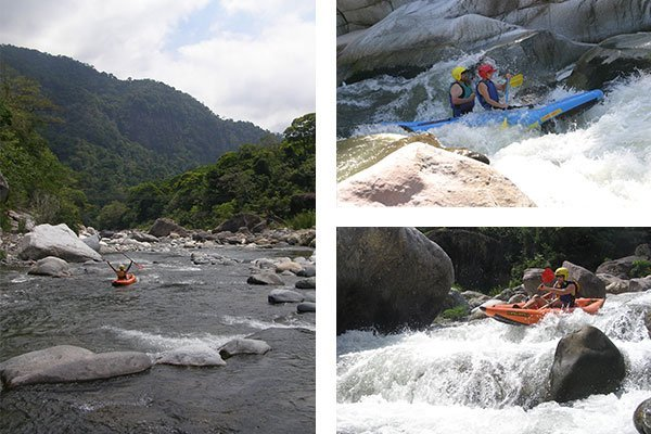 white water with inflatable kayaks cangrejo river